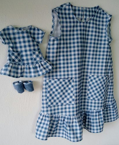 Partnerlook Puppe und Kind Gr. 110/116